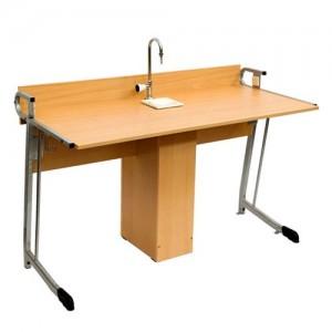 стол лабораторный полуовал с сантехникой