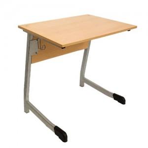 стол ученический 1-о местный полуовал