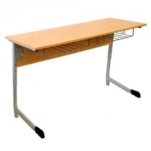 стол ученический 2-х местный полуовал регулируемый
