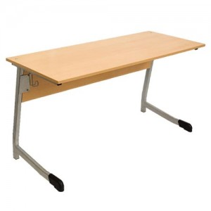 стол ученический 2-х местный полуовал