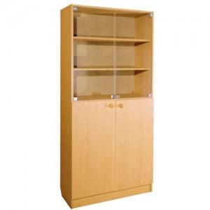 шкаф с полками верх стекло