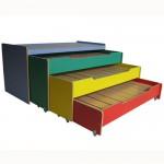 кровать каскад 3-й цветной с тумбой